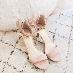 Lulus Pink Open-Toe Heels